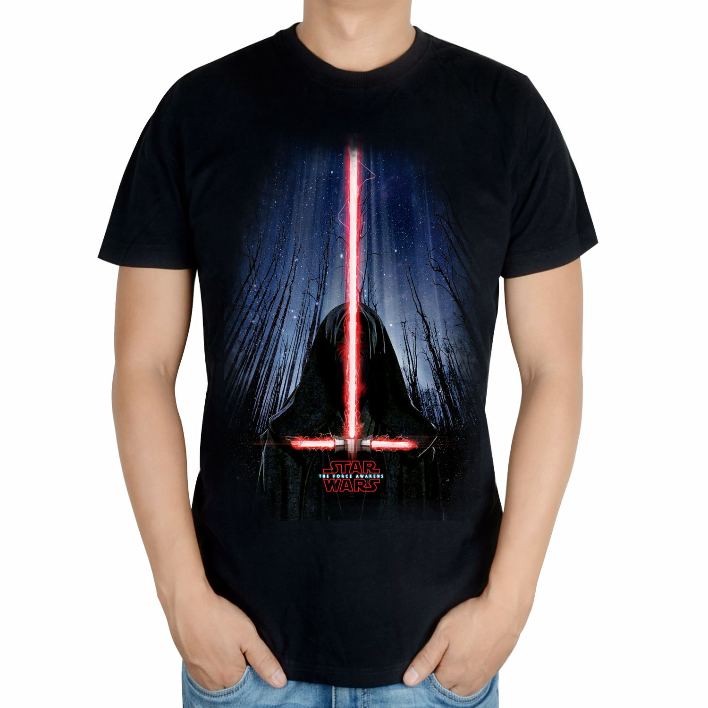 星球大战Star Wars 7原力觉醒达斯摩尔光剑 纯棉男士T恤
