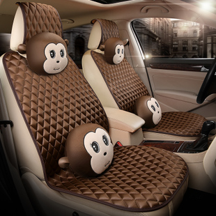 五菱荣光V面包车前排全包正副驾驶冬季单个汽车坐垫冬天座垫7座套
