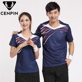 大码 羽毛球运动上衣T恤衫 新品 圆领透气速干短袖 男女情侣款 夏装