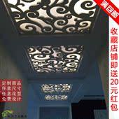 雕花板吊顶玄关隔断墙pvc现代花格屏风过道走廊创意造型镂空装饰