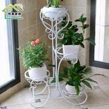 铁艺多层落地折叠花架阳台室内欧式绿萝吊兰花盆架特价实木花架子