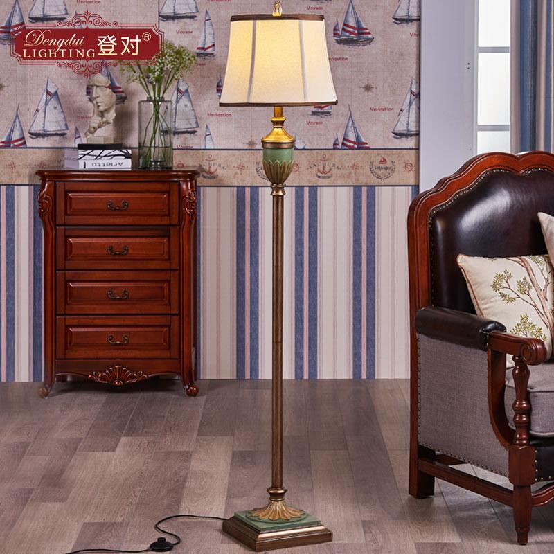 落地灯美式客厅卧室床头欧式复古地中海乡村