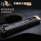 天鹅口琴24孔复音初学者儿童学生成人c调口琴自学专业演奏琴乐器