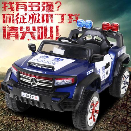 好加新款儿童电动车带遥控可坐越野童车双开车门四轮玩具双驱汽车商品大图