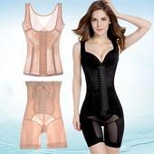 薄款产后减肚子加强版排扣收腹束腰分体套装塑身衣束身衣塑身内衣