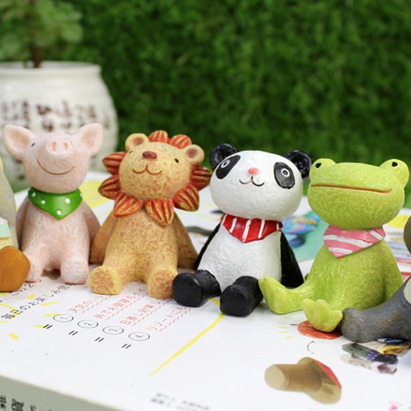 创意zakka仰望天空可爱小动物摆件装饰摄影道具家居桌面摆饰萌物