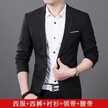 男士西服套装青年商务娱乐网站白菜网站大全修身小