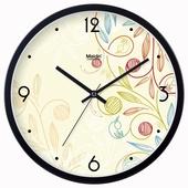 麦丁时尚现代挂钟客厅办公静音时钟日历挂表简约创意石英钟表238