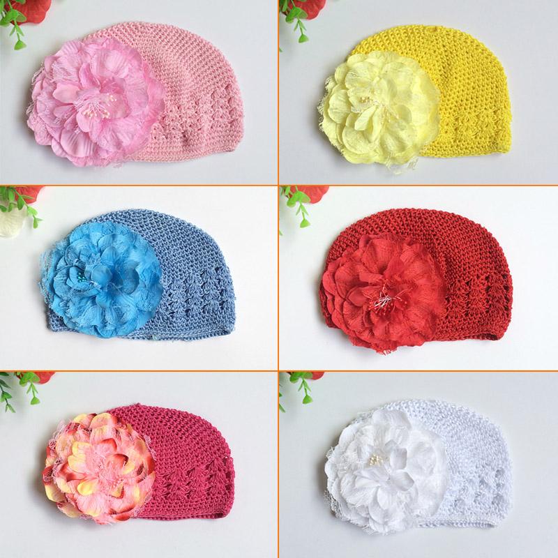 欧美宝宝套头帽大花朵麦穗帽婴儿帽子男女童帽