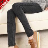 仿牛仔打底裤外穿弹力显瘦黑色裤子大码高腰长裤紧身小脚裤女秋冬