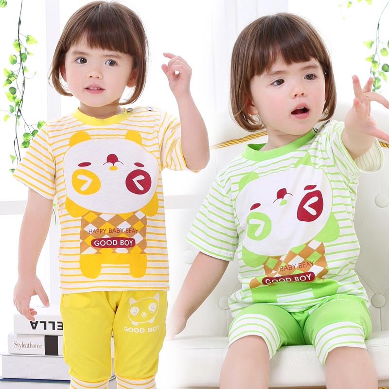 夏装婴儿女童童装半夏夏天衣服套装宝宝短袖幼儿小孩