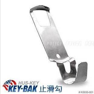 银色现货 key bak 背卡 伸缩钥匙圈专用止滑钩 美国