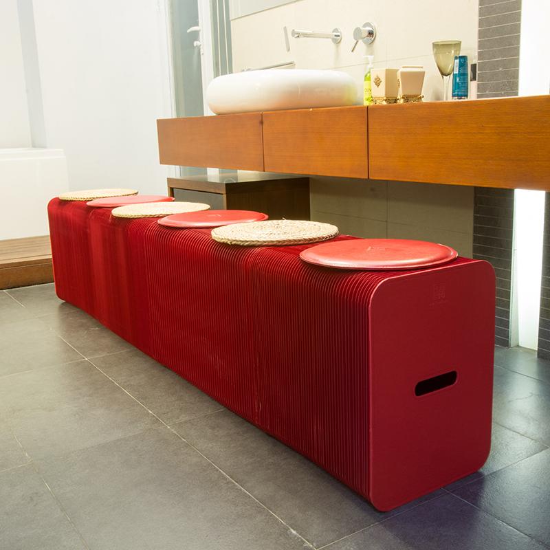 十八纸客厅家用餐椅可伸缩折叠收纳椅咖啡厅简约现代时尚原创家具